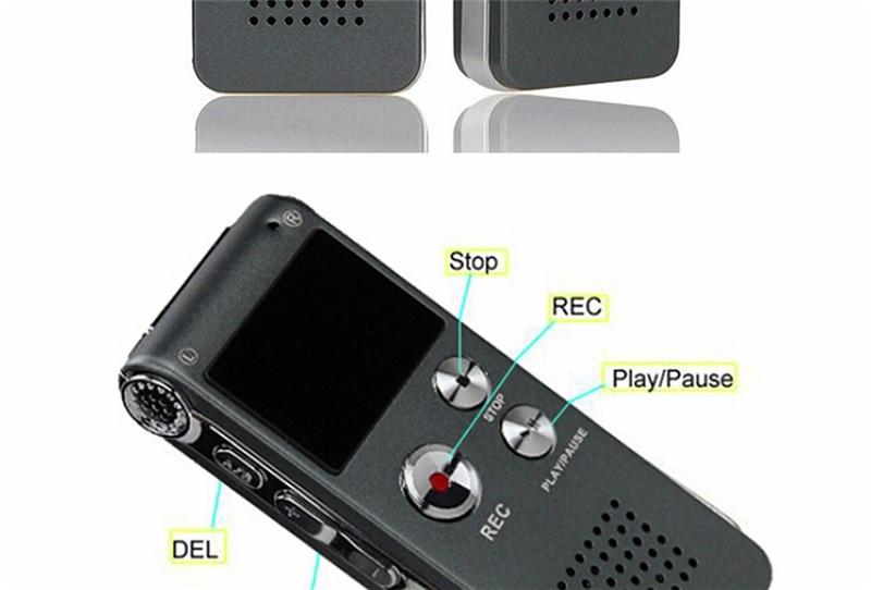 de Voz Ditafone MP3 Player Pen Gravação Gravador Caneta Recarregável