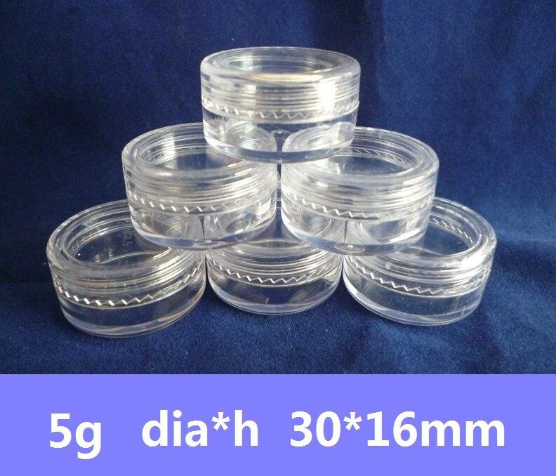 2 ml OU 5 ML en Plastique Transparent Pots échantillon Bocal Make Up cosmétiques Art Nail bouteilles