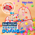 Children's Baby Playpens Basket Outdoor/Indoor Foldable Kids Pool Game Tent Portable Activity&Gear Toy Fencing 50pcs Ocean balls
