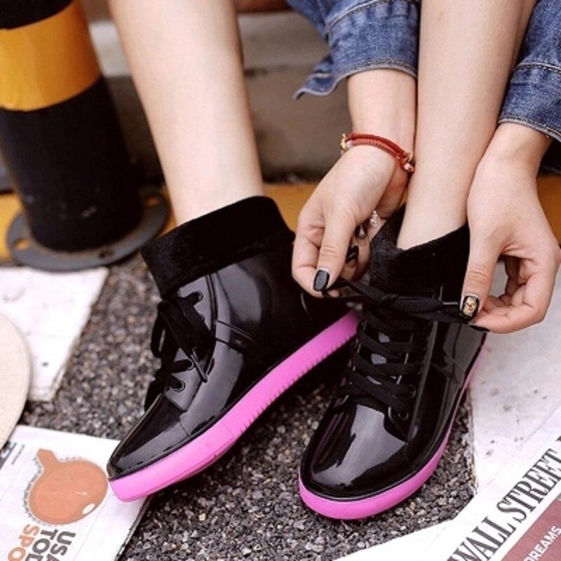 Épaisses Neige D'hiver Automne Chaussures Nouvelle 2018 Et Bottes À De Semelles Pluie Chaud Noir Femmes rBcpZrP