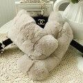 F383-Soft Природный Рекс кролика сладкий воротник осень зима теплая коричневый белый фиолетовый меховой шарф для женщин