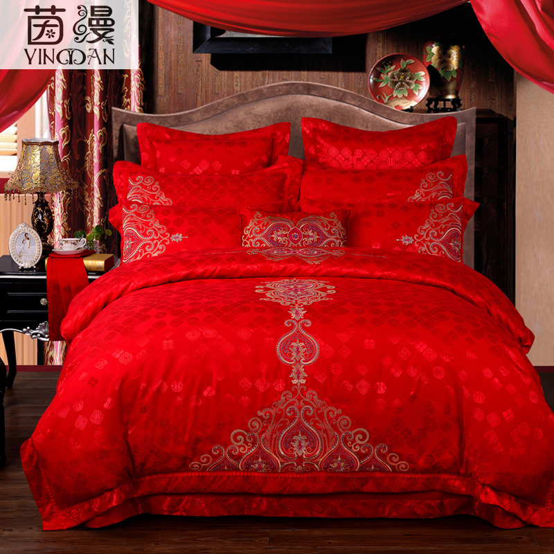 Couvre Lit Rouge Satin | Redbestbuy