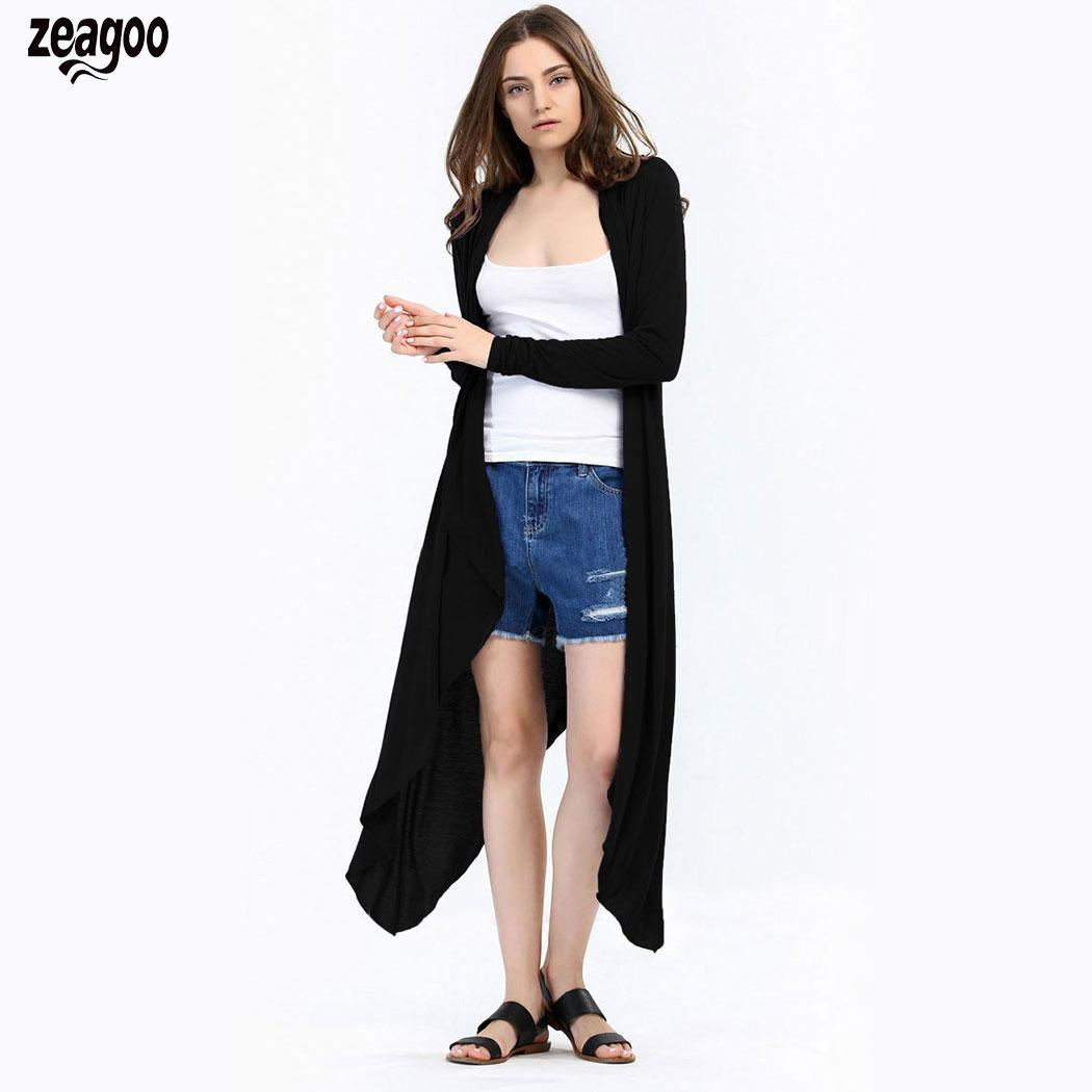 Women Casual Open Front Long Sleeve Solid Wine Red, Purple, Black Long Stitch Outwear   Trench   Coat Cardigan
