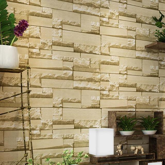 3D Wall Stickers Non woven Fabric Retro Brick Wall Stickers Clothing ...