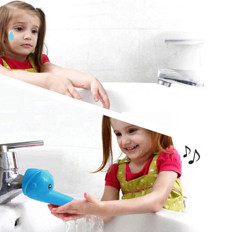 Bathroom Accessories Beautiful Cartoon Faucet Extender For Kid Children Hand Washing In Bathroom Sink Elephant Dolphin Duck  JY