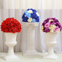 flower ball centerpieces display Table centerpiece flower balls wedding decoration flower wedding road lead flower 40cm