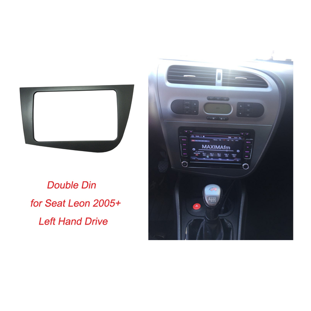 Radio Fascia for Seat Leon Double Din Head Unit Stereo Panel Dash Mounting GPS Navigation Installation DVD Trim Face Frame Bezel