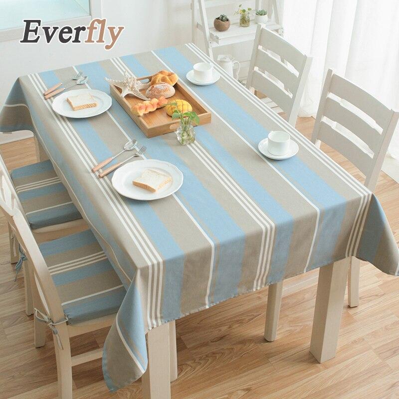 azul y blanco a rayas elegante cordn de polister pao de tabla pastoral cubierta de mesa