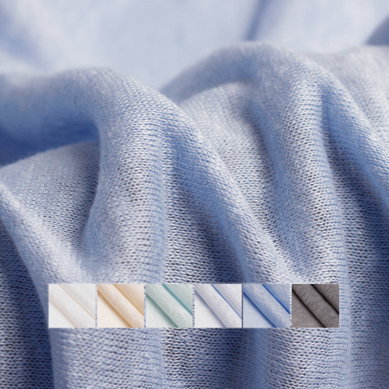 Pearlsilk light thin knitted linen elastic 100%flax garment meterials summer T shirt DIY clothes fabrics FreeshippingFabric   -