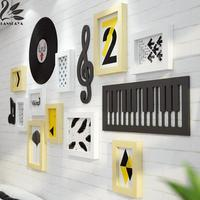 Lanskaya Music Notation Solid Wood Photo Frame Wall New Classical Multi frameposter Family Diy Paper Poster Wood Frame