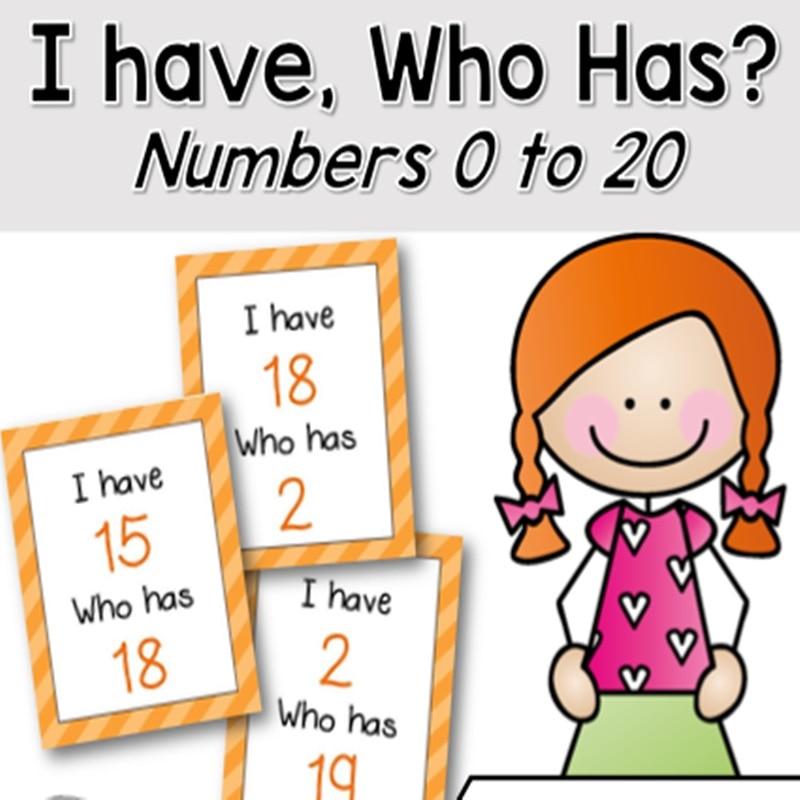 21Pcs /set I Have... Who Has.. English Digital Number Flash Cards Pocket Card Kids Game Learning Educational Toys