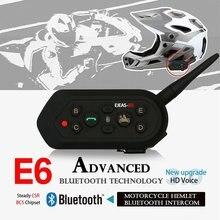 EJEAS 2pcs E6 Bluetooth Motorcycle Helmet Intercom Headset 1200M Wireless Motorbike Snowmobile Skiing Walkie-Talkie Waterproff