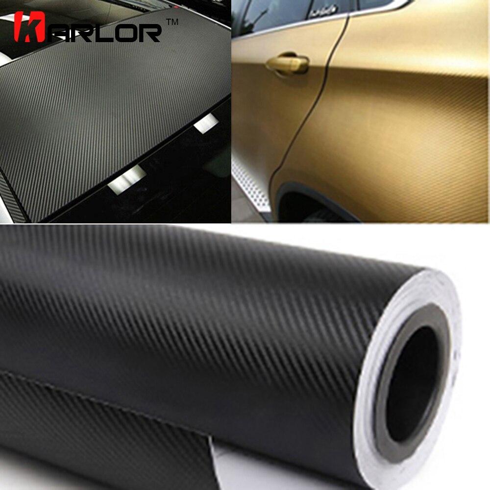300cm x 60cm Wasserdichte DIY Auto Aufkleber Decor Auto Styling 3D 3M Auto Fahrzeug Auto Carbon Faser vinyl Wrapping Rolle Film Motorrad