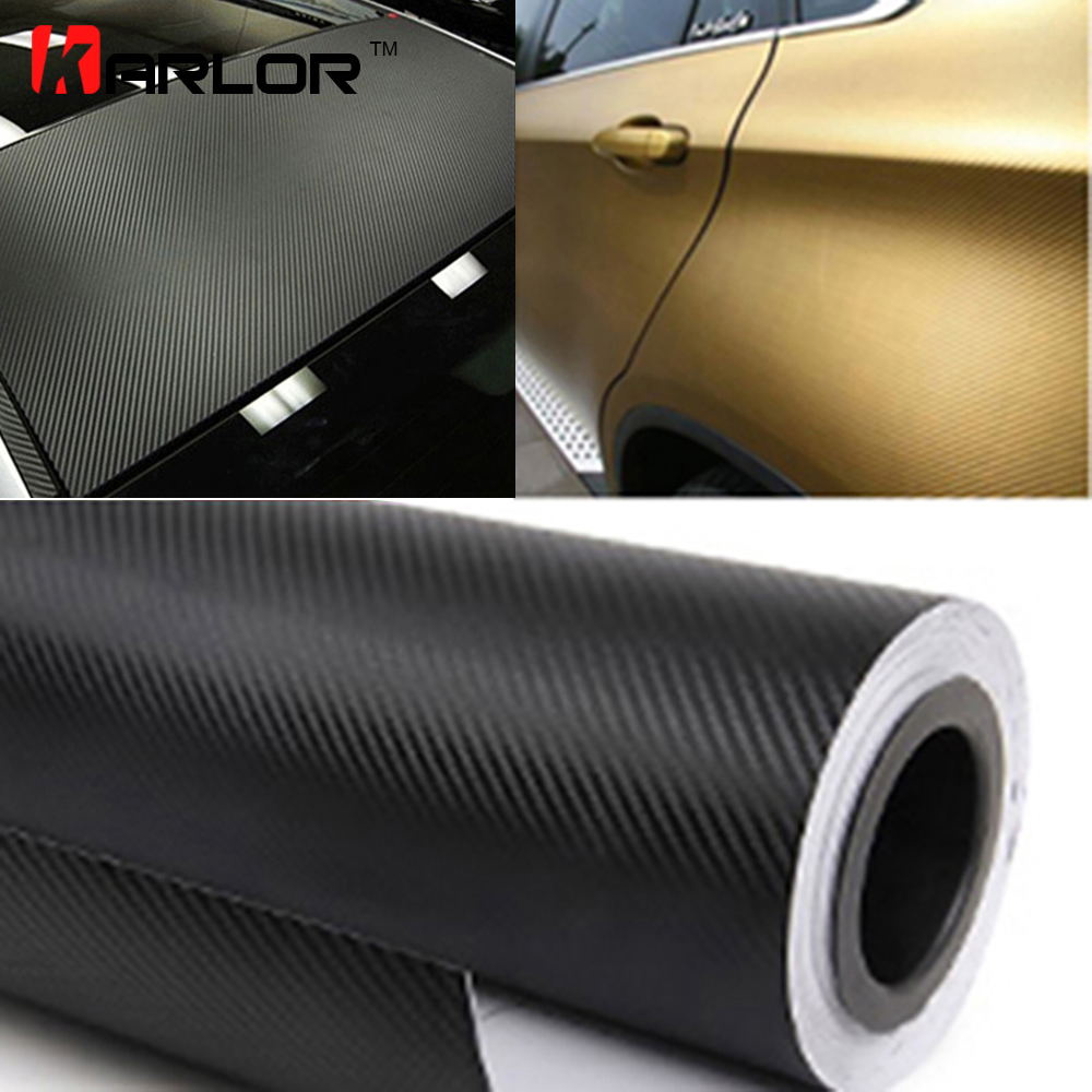 300cmx60cm Waterproof DIY Car Stickers Decor Car Styling 3D 3M Auto Vehicle Car Carbon Fiber Vinyl Wrapping Roll Film Motorcycle