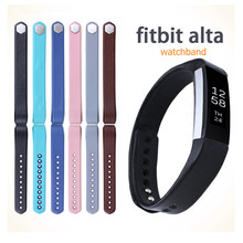 Replacement Genuine Leather Wrist Strap Luxe Bands For Fitbit Alta Activity and Sleep Tracker