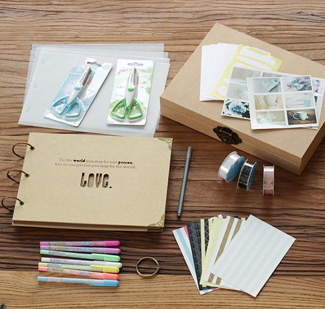 Scrapbook Album Wedding Photo Album Scrapbook Album Gift Set In