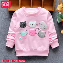 2018 New Arrival Baby Girls Sweatshirts Winter Spring Autumn Child hoodies 6 Cats long sleeves sweater