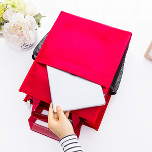 Image 5 - 4 색 휴대용 파일 가방 a4 학생 교과서 데이터 파일 포켓 다기능 방수 휴대용 office 파일 가방 캔버스 가방