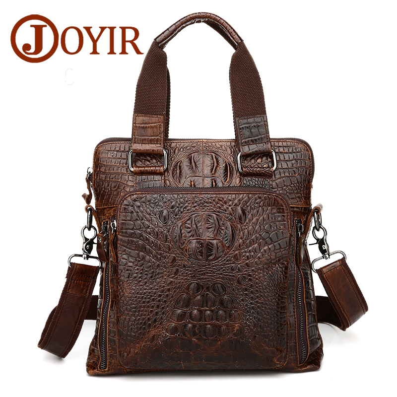 Fashion famous brand genuine leather men briefcase designer handbag cow leather alligator crossbody bag business messenger bag