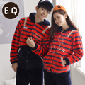 Free Shipping New arrive Full Sleeve Coral Velvet Letter Lovers Red Colour Warmth Sleepwear