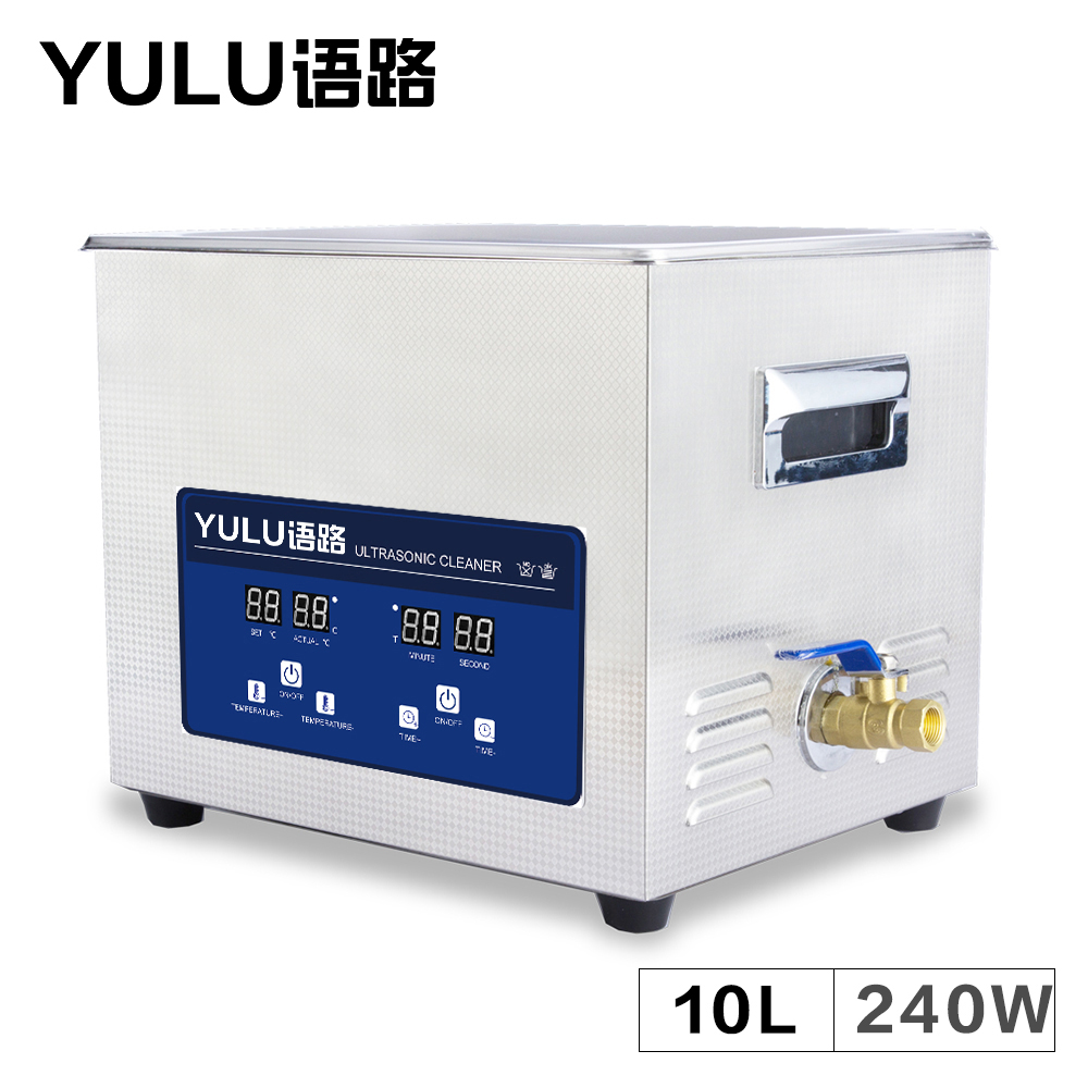 Digital Ultrasonic Cleaner 10L MotherBoard Electronic Washing Parts Lab Equipment Metal Mold Tanks Ultrasound Bath Heater Timer 15l stainless steel digital ultrasonic cleaner with timer and heater including washing basket