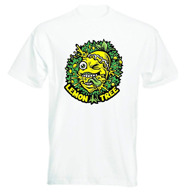 RoyalTeesUK Lemon Tree Coffee Shop Smokers Iconic Short Sleeve T-Shirt