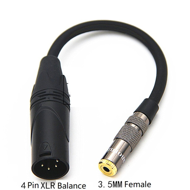 Hifi Male 4 Pin Xlr Balance To 3 5mm 2 5mm 6 35mm 4 4mm Female Audio Cable Dac Stage 4 Core Xlr Headphone Adapter Cable Aliexpress