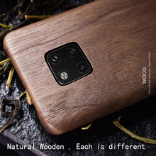 Caixa de telefone de madeira natural para huawei mate 20 pro caso capa mate 20 x. Mate20/nogueira/pau rosa/madeira de gelo preto/casca (madeira real)