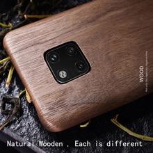 Naturale di Legno Cassa Del Telefono per Huawei Compagno di 20 Pro Caso Della Copertura Compagno di 20 X. Mate20/Noce/Palissandro/Black Ice Legno/Shell (in Vero Legno)