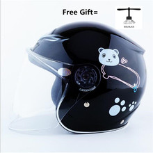 Motorcycle Helmet Cafe Racer Capacetes Moto Motorbike  Face Casco Cartoon for Children red 48 to 52cm