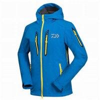 2018 autumn winter daiwa fishing clothing fleece warm waterproof breathable soft shell jacket outdoor sports coat