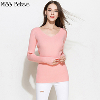 2017 Autumn Spring Women Sweater Plus Size 4XL 5XL Casual V Neck Pullover Solid Fashion Sweater