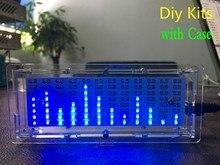 גרסה חדשה מנתח ספקטרום LED מוסיקה MP3 PC מחוון רמת שמע מחוון מגבר מודול Diy ערכות עם מקרה
