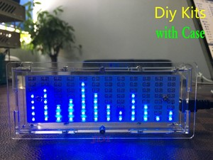 Image 1 - גרסה חדשה מנתח ספקטרום LED מוסיקה MP3 PC מחוון רמת שמע מחוון מגבר מודול Diy ערכות עם מקרה