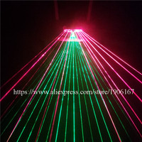 Christmas Halloween Luminous Red Green Laser Glasses Party Laserman Show Glasses For Stage Performance