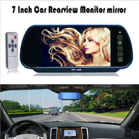 7 Inch TFT LCD Touch Button Car Rearview Mirror Monitor 7 Auto Parking Reverse Rear View Monitor for Backup Camera Support DVD