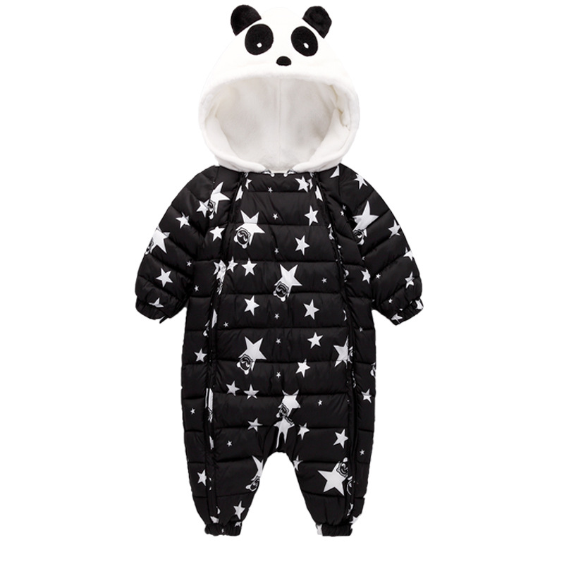 Winter Baby Rompers Overalls Clothes Jumpsuit Panda Newborn Girl Boy Cotton Down Snowsuit Kids infant Snow Wear onepiece W106