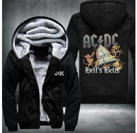 2017 AC DC Bell Skull Mens Hoodies I Got My Bell Gonna Take Ya To Hell