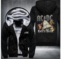 2017 AC DC Bell Skull Mens Hoodies I Got My Bell Gonna Take Ya To Hell