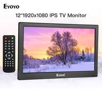 Eyoyo 12 inch EM12T 1920x1080 IPS LCD Screen Display HDMI TV Monitor Portable HDMI/VGA/AV Input Remote Control computer monitor