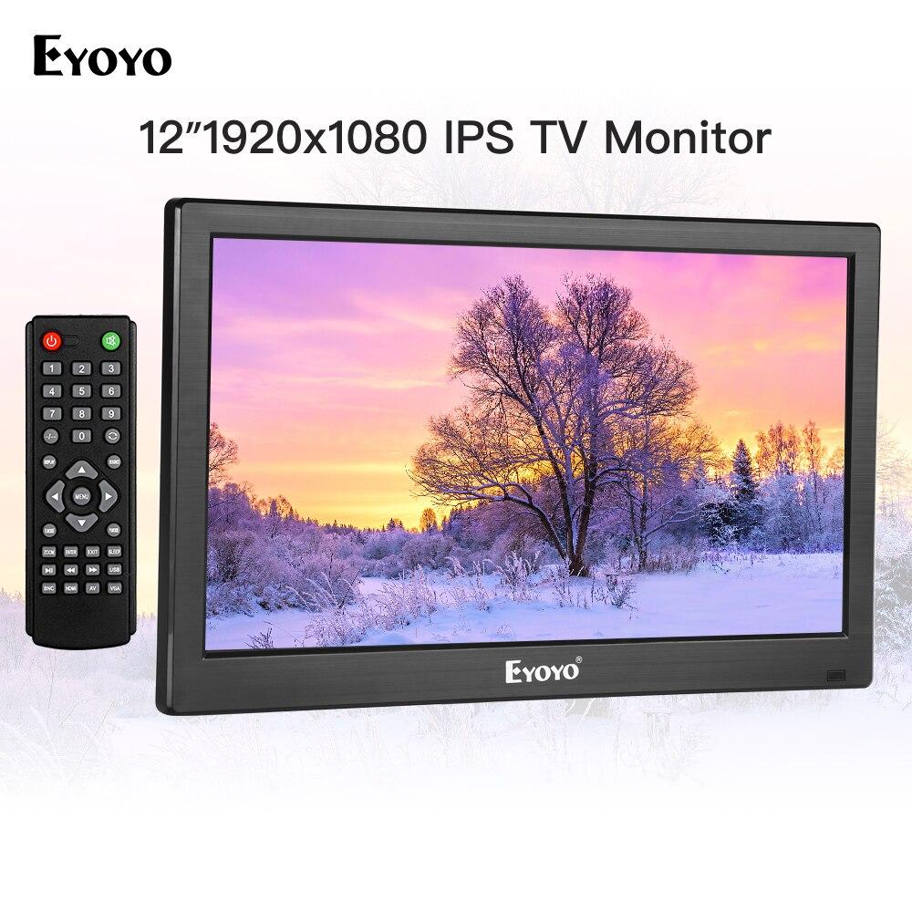 Eyoyo 12 pouces EM12T 1920x1080 IPS LCD écran d'affichage HDMI TV moniteur Portable HDMI/VGA/AV entrée télécommande ordinateur moniteur