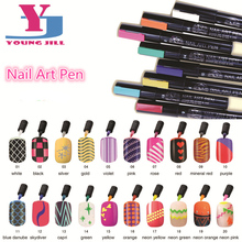 New Fashion High Qualitity Nail Art Pen 16 Colors Women Beau