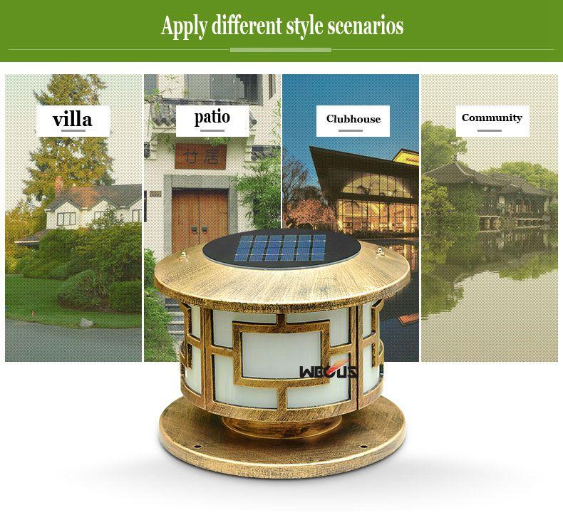 dwaterproof água parede pilar lâmpada villa jardim