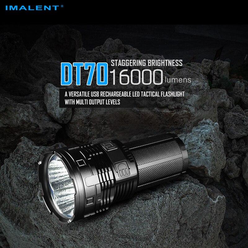 16000 ルーメン IMALENT DT70 USB 充電式 LED 戦術的な懐中電灯マルチレベル出力 & OLED ディスプレイ  グループ上の ライト & 照明 からの 懐中電灯 & トーチ の中 1