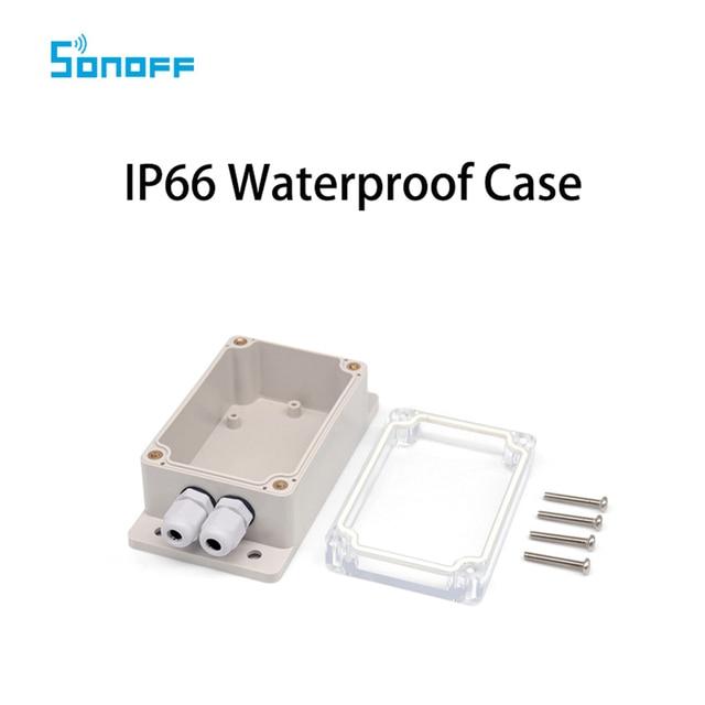 Alta calidad Sonoff IP66 caso de la cubierta impermeable para Sonoff Básicos/RF/doble/Pow/TH16/G1 hogar Inteligente