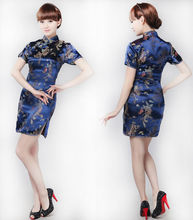 2018 New Summer Vintage Chinese cheongsam Qipao women dress New Year party sexy evening dresses chi-pao