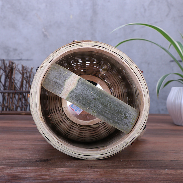 Bamboo Woven Style Thermos 4