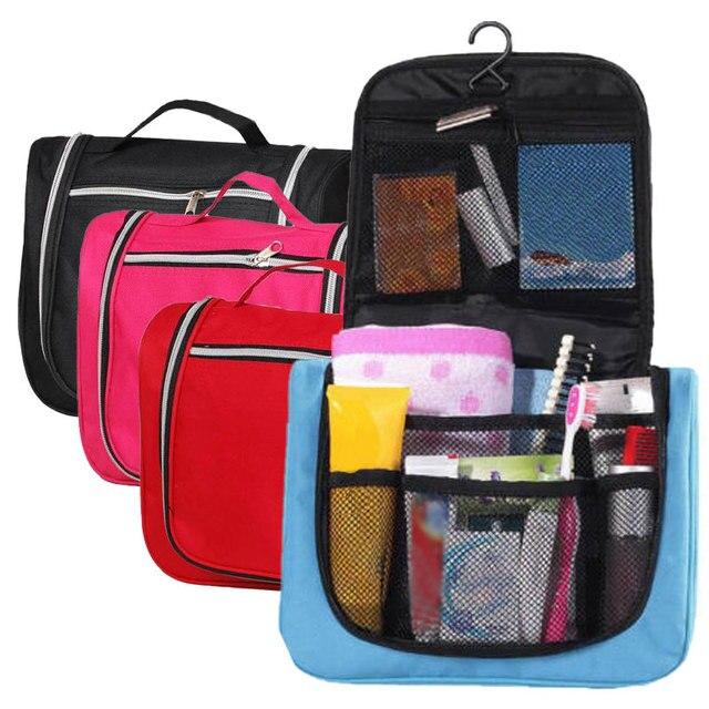 2019 artículos de aseo multifuncionales de viaje bolsa de almacenamiento de cosméticos para mujeres impermeable de baño colgante de gancho de baño portátil bolsa de almacenamiento