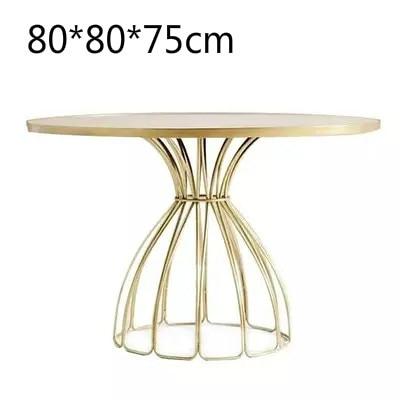 Луи Мода кафе столы скандинавские мраморные железные Золотые круглые журнальные переговоров - Цвет: G2