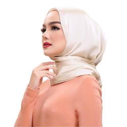 90*90 сатиновый хиджаб шарф для женщин Малайзия квадратный шелковый платок Мусульманский Исламский костюмы палантин шали из фуляра femme musulman